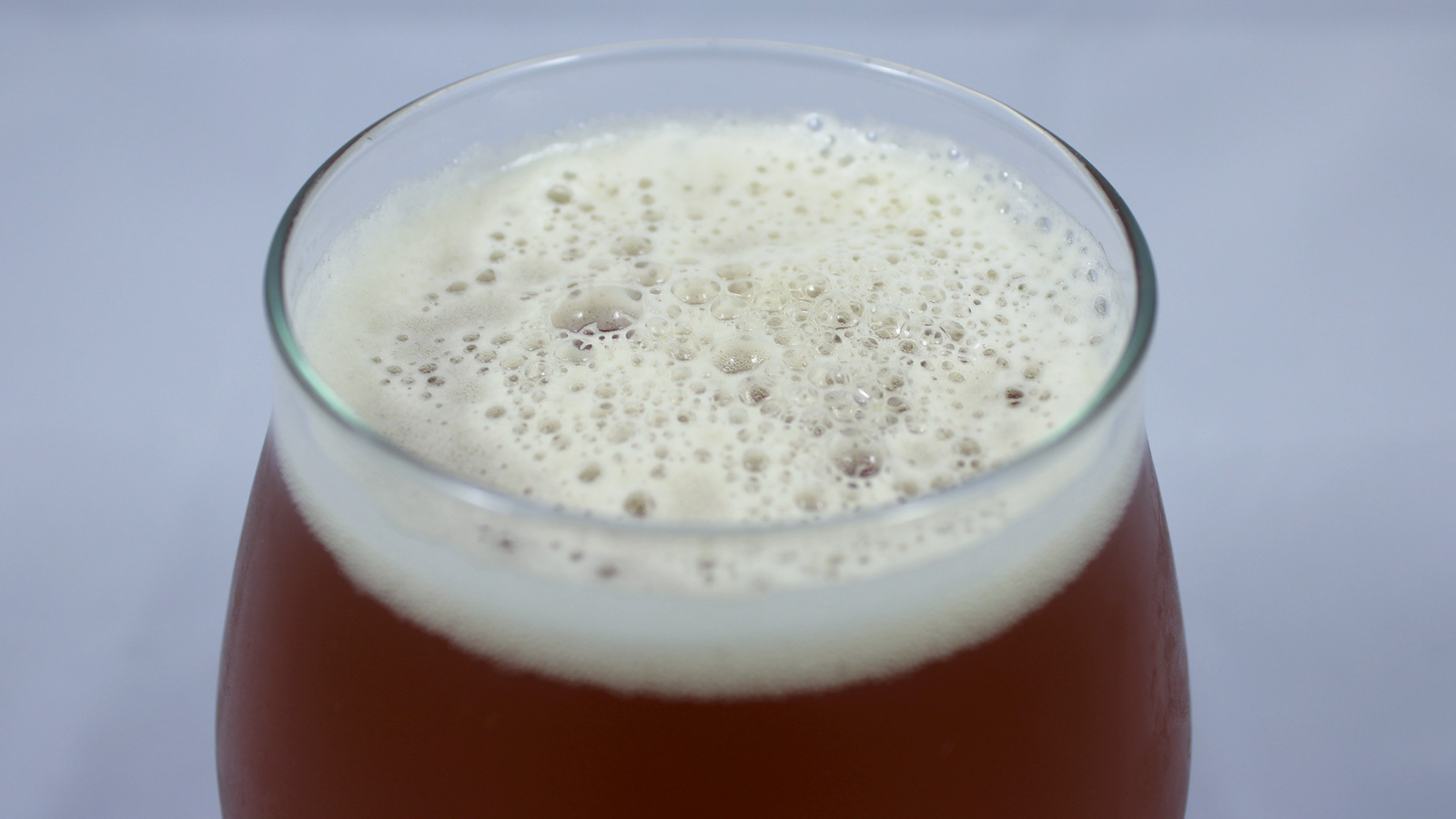Close-up of the foam on top of a beer